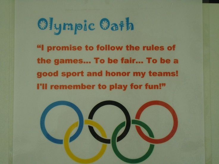 Olympics! An oath, and how to make the rings with paper plates or handprints. So cute!
