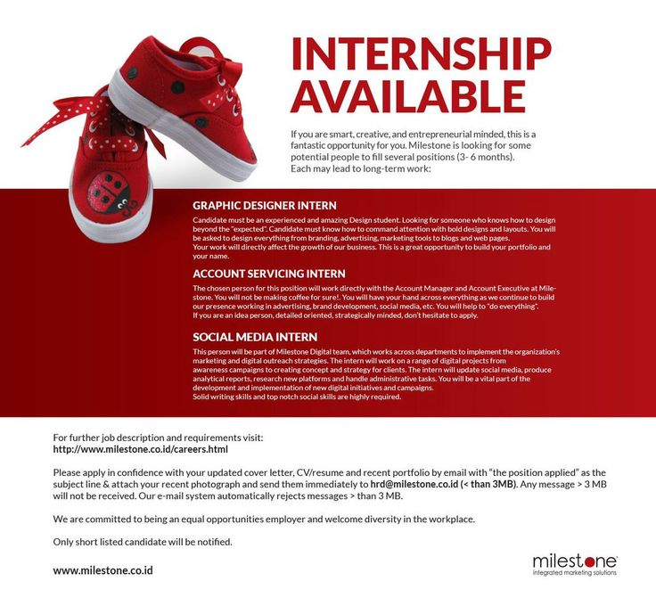 Rian Adrian (rianmilestone) on Pinterest - intern job description