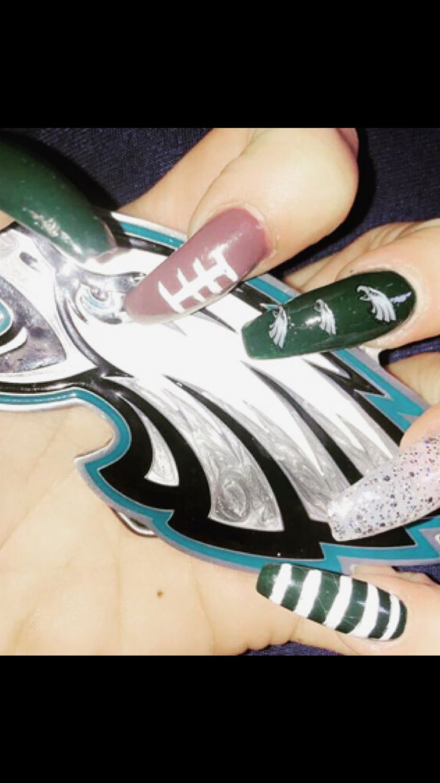 Best 25+ Football nail designs ideas on Pinterest