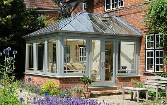 Small conservatory by David Salisbury - I love this at the back of my future house!