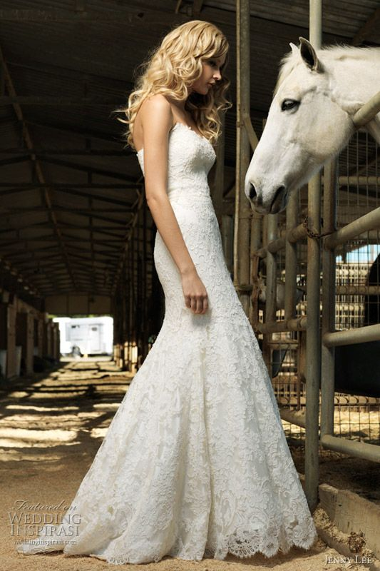 country lace & horse.... Someday one of my brides will be owned by a horse :~}