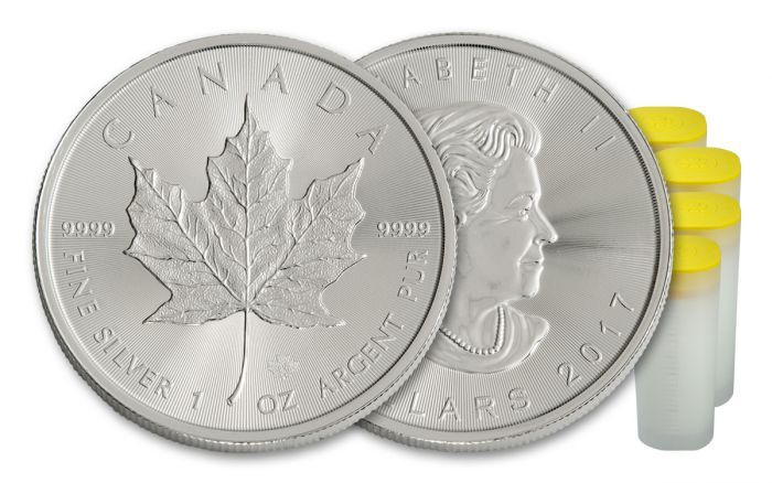 2017 Canada 5 Dollar 1-oz Silver Maple Leaf BU 100-Coin Pack