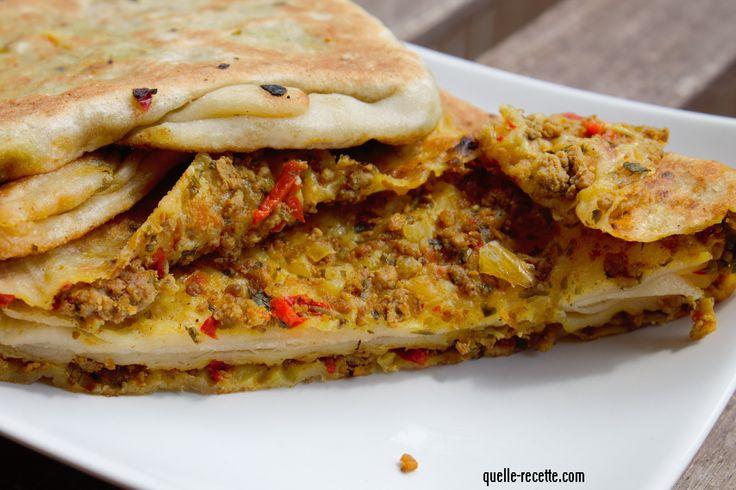 Mssmens (Mahjouba) farcis ( pains farcis) Spécial Ramadan