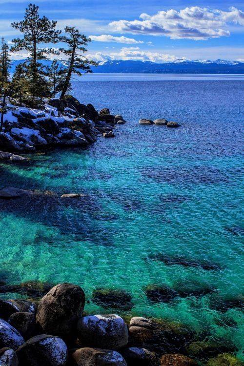 Lake Tahoe Winter Wallpaper Desktop Background: Lake Tahoe, California
