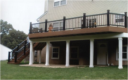 Two story decks with stairs we make decks built to your for 2 story decks and patios