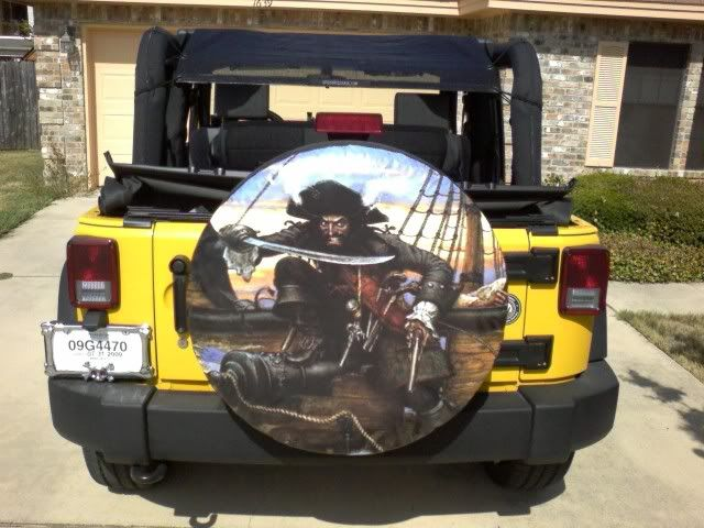 Jeep Wrangler Unlimited Tire Cover ... forward yellow jeep pirate cover jeep wrangler tire covers see more