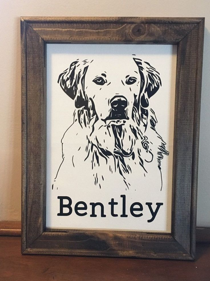Dog memorial animal reverse canvas personalized