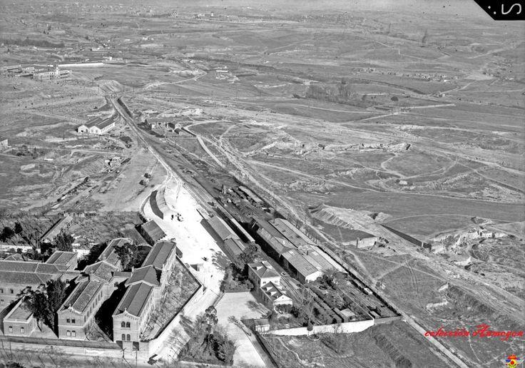 Algunas fotografías aéreas, archivo del Ejercito del Aire.  Estación del Niño Jesús y el Hospital
