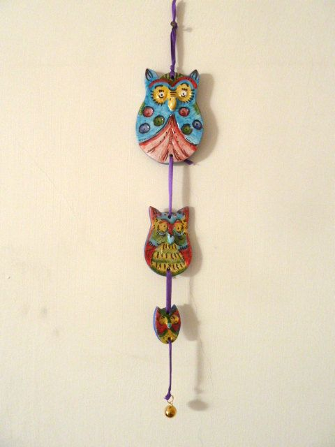 Tre gufi da appendere a parete. Three owls to hang on di LabLiu, €20.00