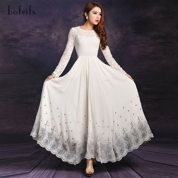 Amylinda™   Lace Chiffon FLoor Length Evening Dress