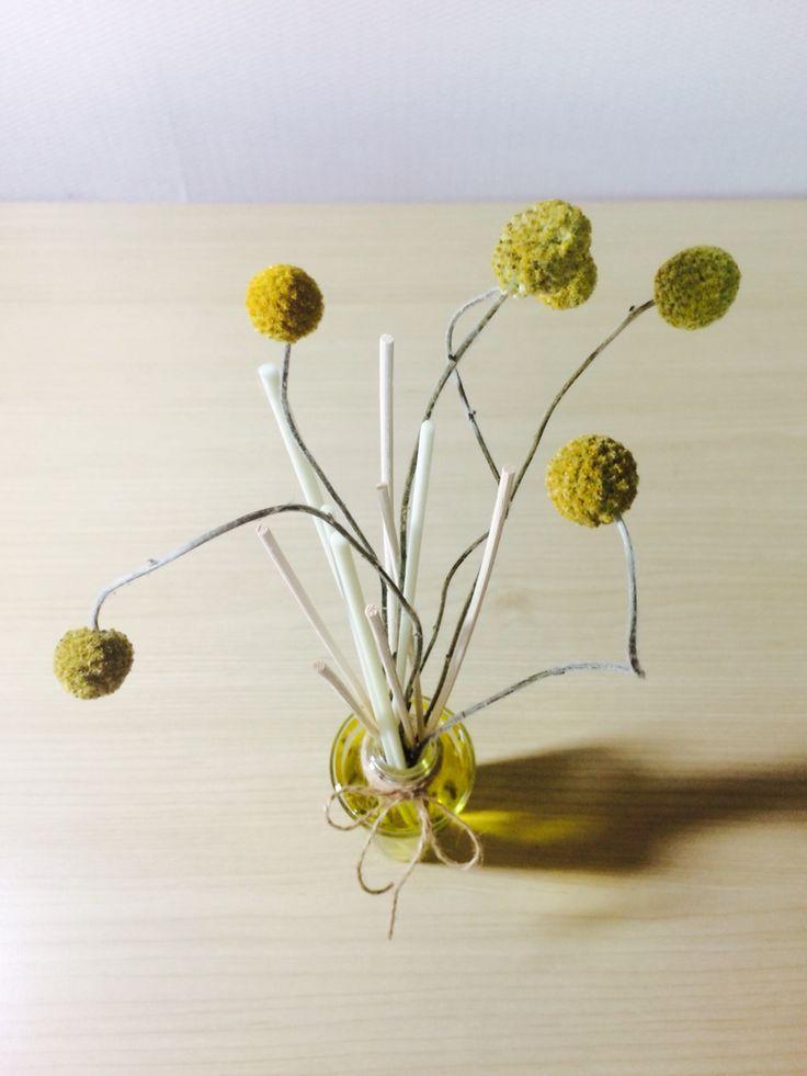 Handmade -oil reed diffuser @dry flower