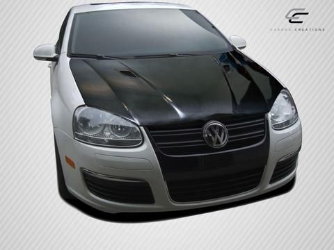 2005-2010 Volkswagen Jetta 2006-2009 Golf GTI Rabbit Carbon Creations RV-S Hood - 1 Piece