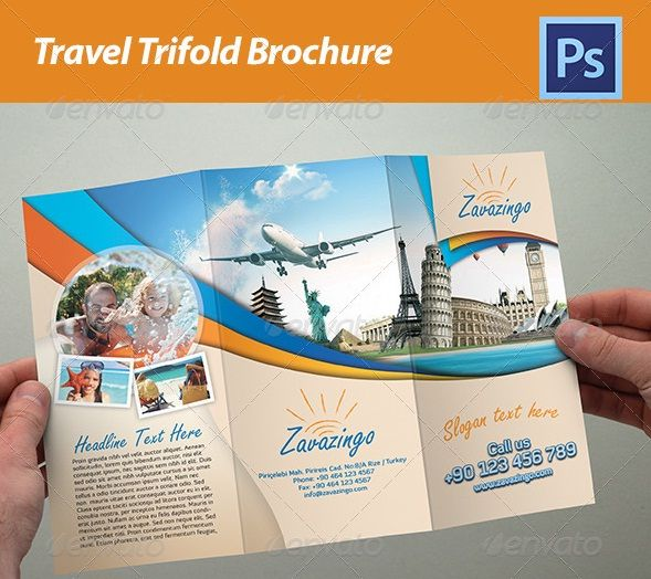 13 best brochure design templates images on Pinterest Brochures - sample travel brochure