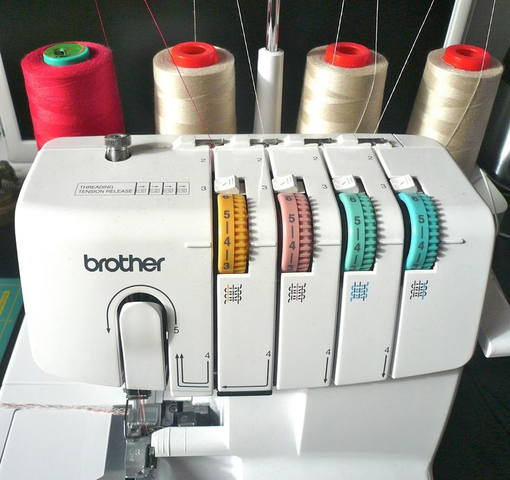 Handmade Jane: Overlocker thread tip...when sewing with serger only change left thread!