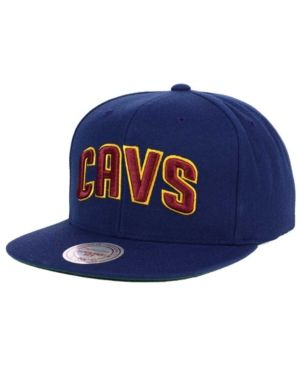 Mitchell & Ness Cleveland Cavaliers Xl Logo Snapback Cap - Blue Adjustable