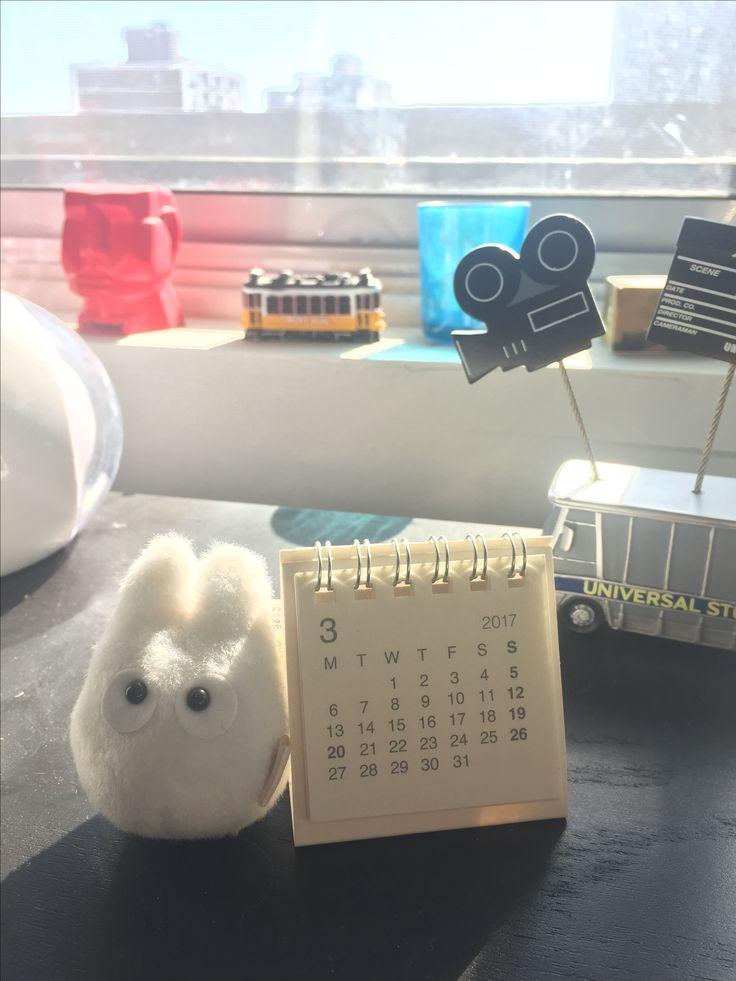 MUJI mini calendar is a must in my office