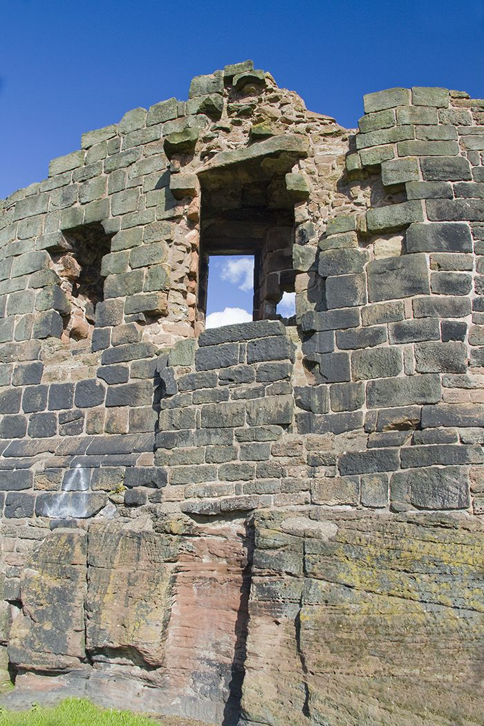 External shot of the ruins at Halton Castle
