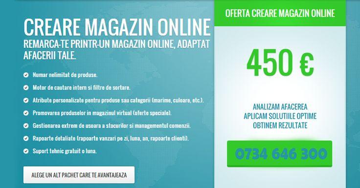 Realizare Magazin Online la cheie cu doar 450 EURO. Contacteaza-ne: 0734.646.300 http://www.tisromania.ro