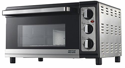 American Micronic Stainless Steel 25 Liters Imported Oven Toaster Griller (OTG), 230V AC, 1500W, 60 Minutes timer (Baking Tray,Wire Rack) of 5500 at just 3880 Rs only ~ Www.Trickloot.in