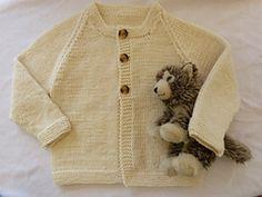 Fast Baby Cardigan pattern by Jan Cullen #knitting #free #cardigan