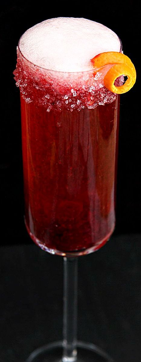 Cranberry and Grand Marnier Champagne Cocktail Recipe ~ Says: This one is simple, beautiful and tasty. Cranberry juice and Grand Marnier are combined with a sparkling wine (or even sparkling cider for those passing on alcohol) and it fits the bill perfectly. Easy. Gorgeous. Good.