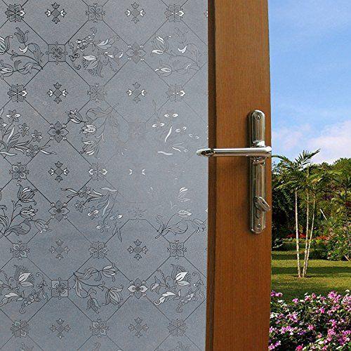 Aingoo Fensterfolie Sichtschutzfolie Window Film Milchglas statisch haftend 45x200cm Style 17