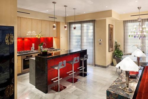 Avant Garde Harbor Home contemporary kitchen