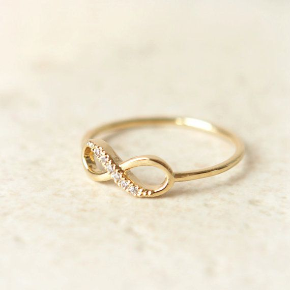 Infinity Ring in gold by laonato on Etsy, $15.00