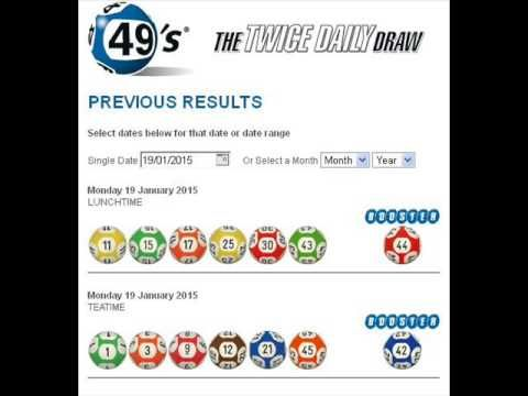 Jan 19, 2015 Irish Lottery Results for 49's 1st Draw and 2nd Dra - (More info on: https://1-W-W.COM/lottery/jan-19-2015-irish-lottery-results-for-49s-1st-draw-and-2nd-dra/)