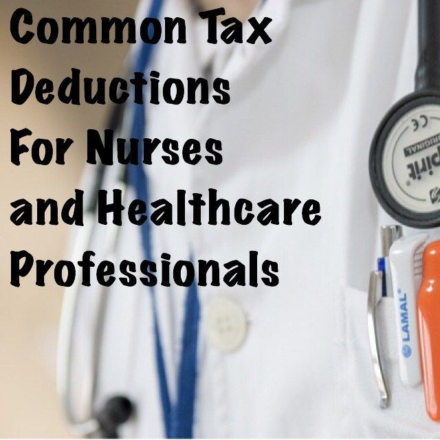 nursing tax deductions