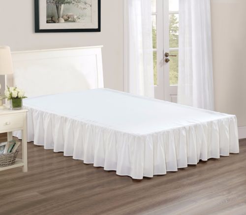 Bed Skirts 20450 Chezmoi Collection Solid White Ruffled 15 Drop Skirt Dust Ruffle Cal King It Now Only 19 99 On Ebay