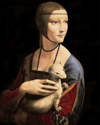 Léonard de Vinci - La Dame à l'hermine, 1490 - Musée Czartoryski, Cracovie, Pologne