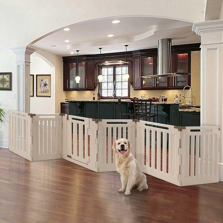 FOR KITCHEN - 6 Panel Convertible Indoor/Outdoor Pet Playpen