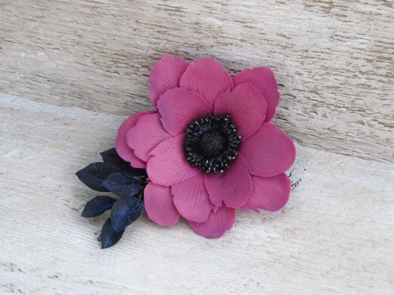 Rosa Haaren Blume rosa Hochzeit Haar Zubehör rosa von MetallyFlower