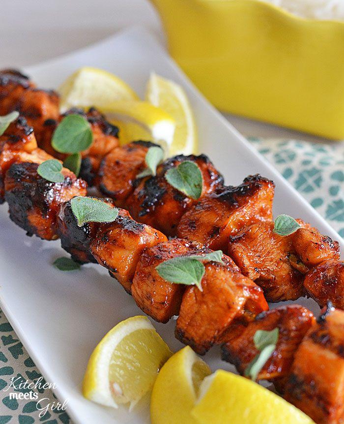 Sriracha-Glazed Chicken Skewers
