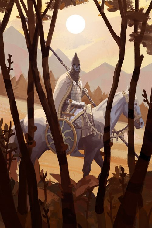 The White Knight from the Russian folk tale Vasilisa the Beautiful