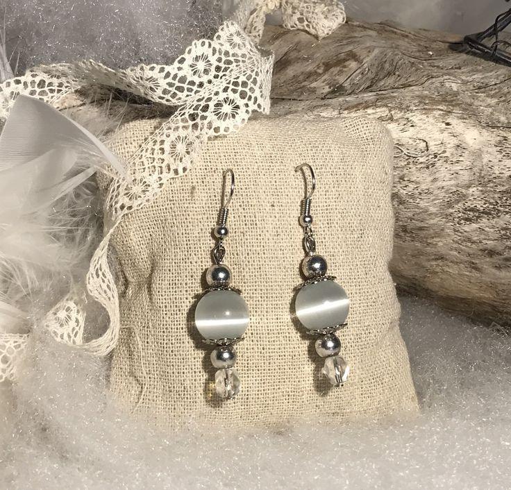Boucles d'oreilles gris perle : Boucles d'oreille par mode2filles