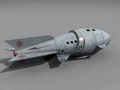 rocket ship   This is a Flash Gordon style rocketship for your mini space epics. The ...