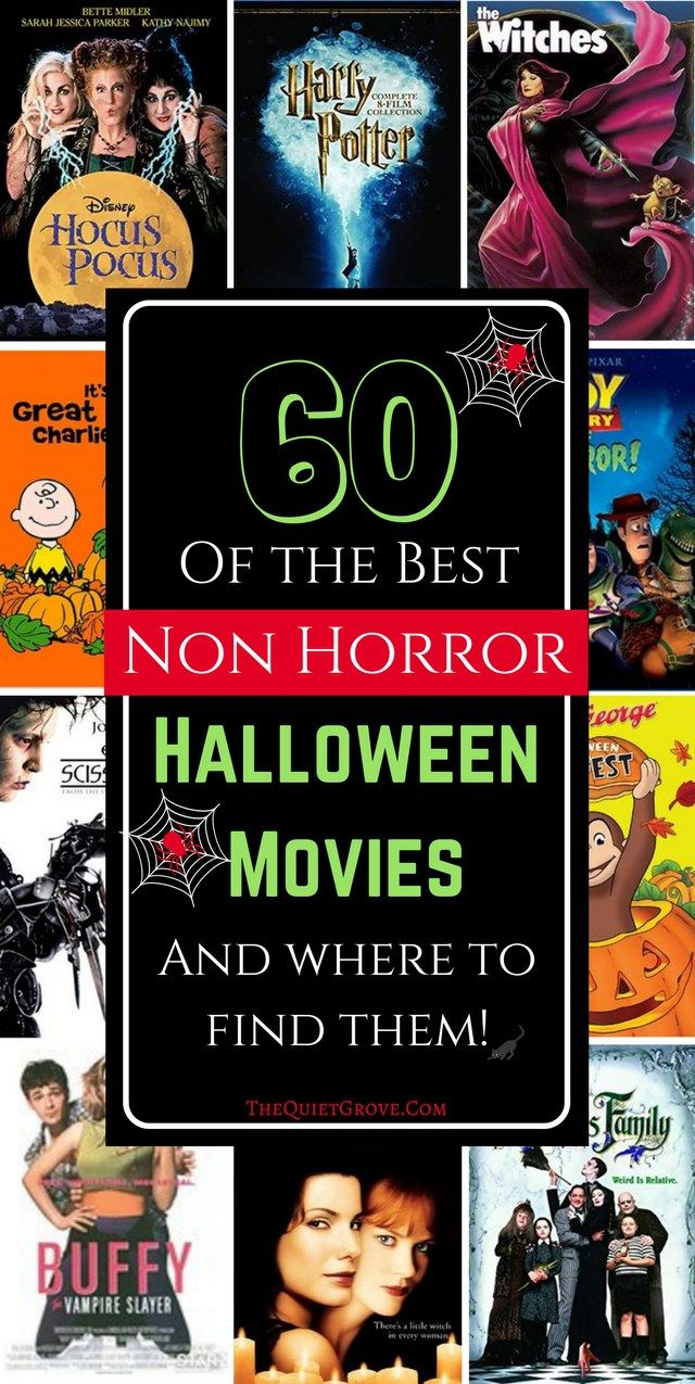 60 of the BEST Non Horror Halloween Movies and where to find them.