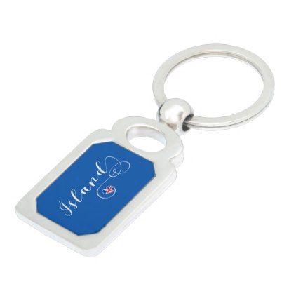 Ísland  Iceland Heart Keyring - accessories accessory gift idea stylish unique custom