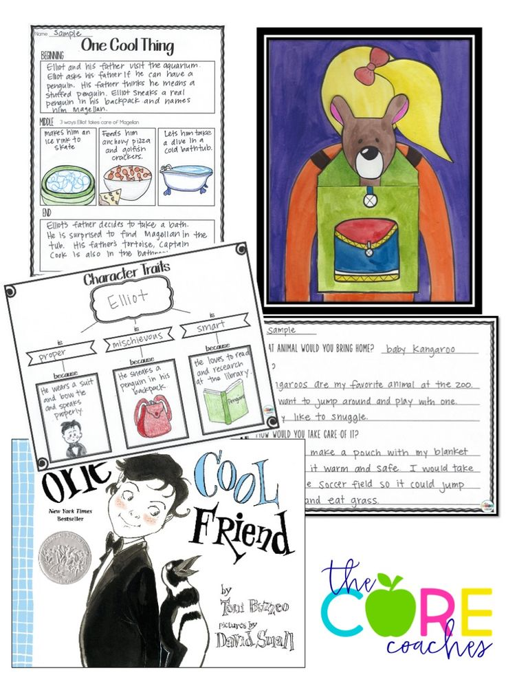 Teach character traits with One Cool Friend writing activities
