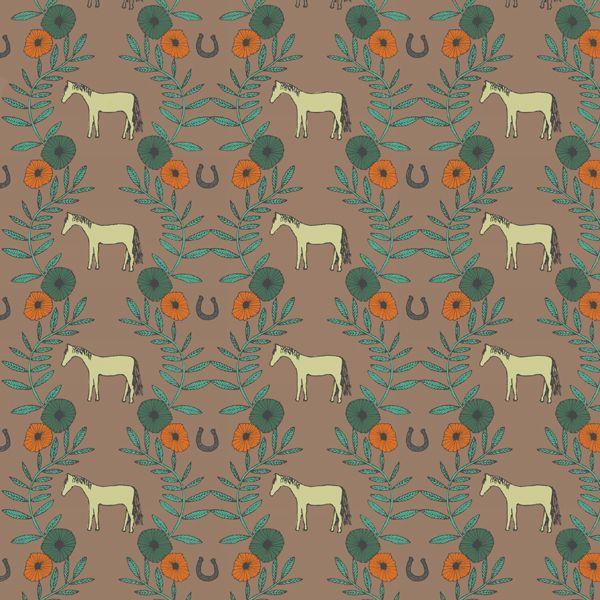 Daily Pattern No. 5 - Horses and vines  by Emma Henderson  www.emmakhenderson.com