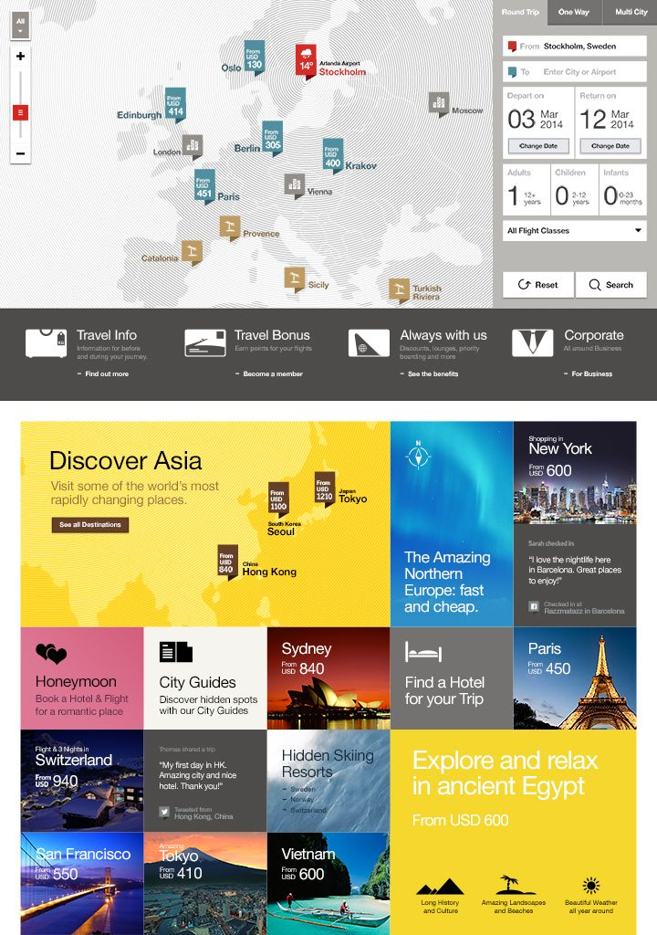 Fantasy Interactive work / Future Airlines website