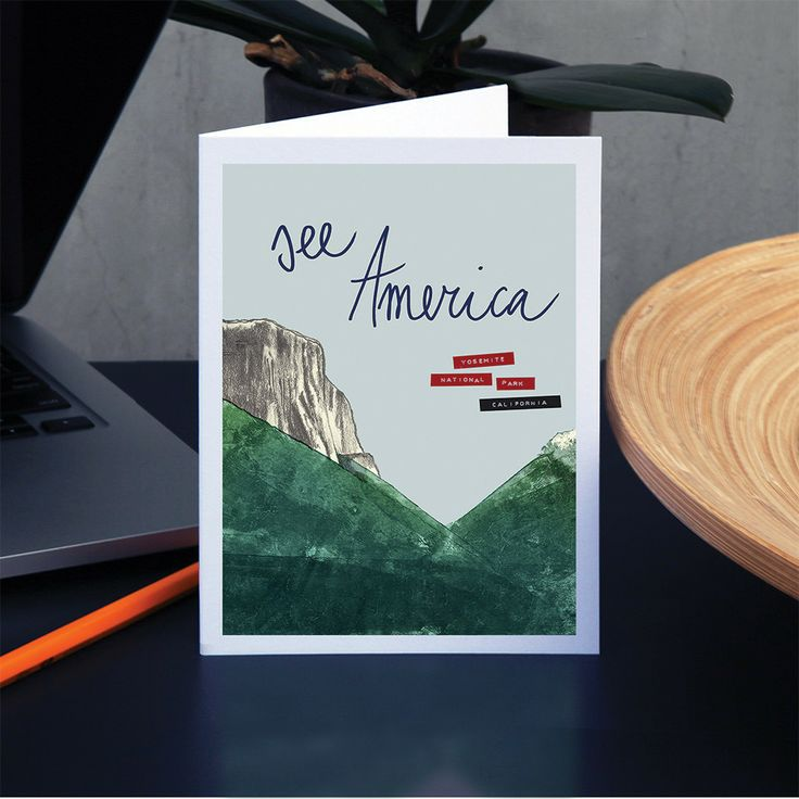 Yosemite National Park Greeting Card by Anna Masini