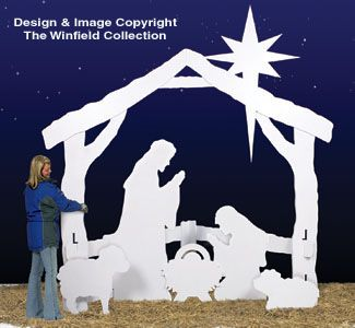 This is what I'm going to make for next Christmas! Large Silent Night Wood Pattern