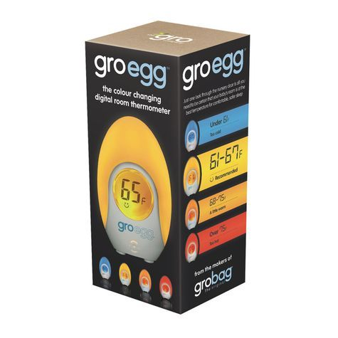 Awesome Gro egg changes color to let you know at a glance whether the temperature of