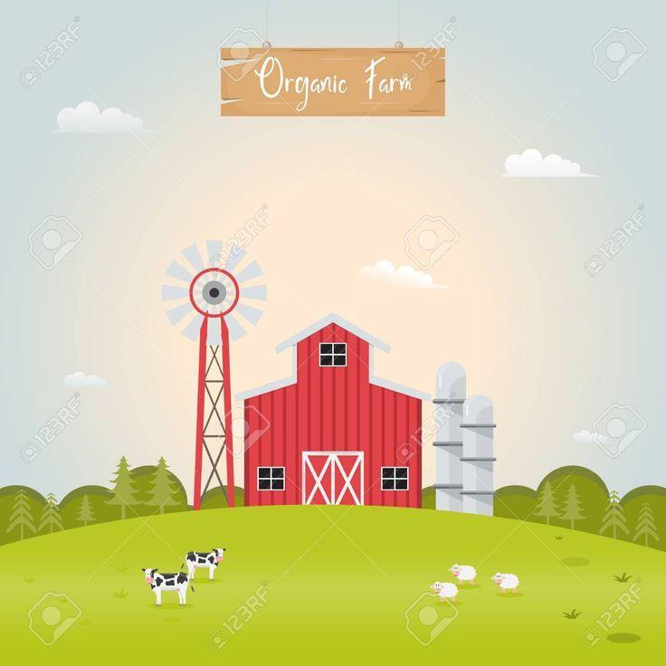 landwirtschaft mit stall und nutztieren vektor illustration loffel haus farmani farm animals barn house vektordatei erstellen illustrator weltkarte