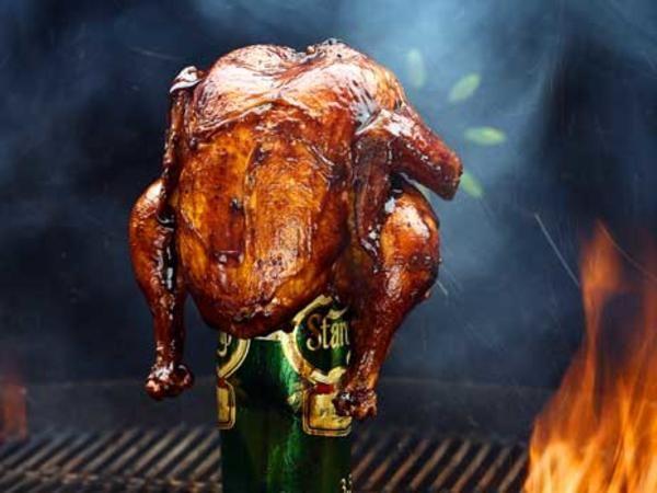 Beer can chicken - helgrillad kyckling på ölburk