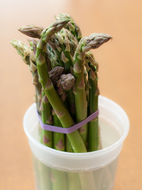 fresh asparagus in water for storage #recipes