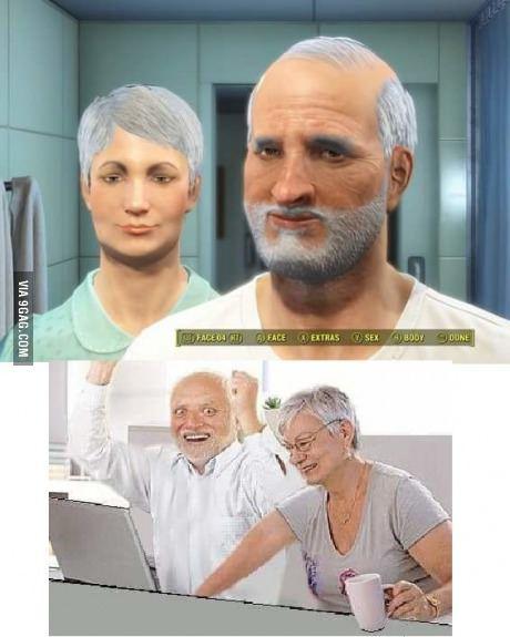 Harold enjoys Fallout 4, too